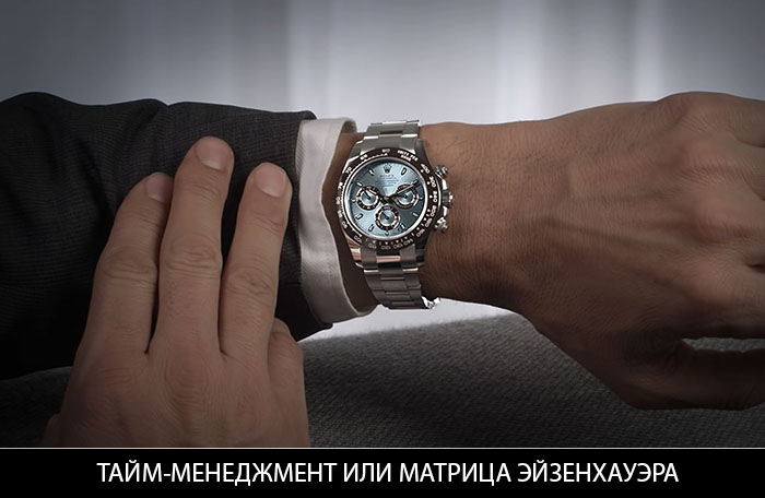 ТАЙМ-МЕНЕДЖМЕНТ ИЛИ МАТРИЦА ЭЙЗЕНХАУЭРА